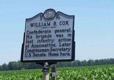 William R. Cox Marker image. Click for full size.