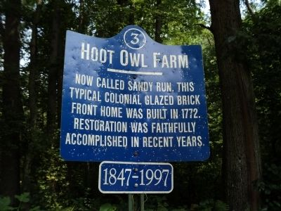 Hoot Owl Farm Marker image. Click for full size.