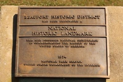 Beaufort Historic District: National Historic Landmark Landmark image. Click for full size.