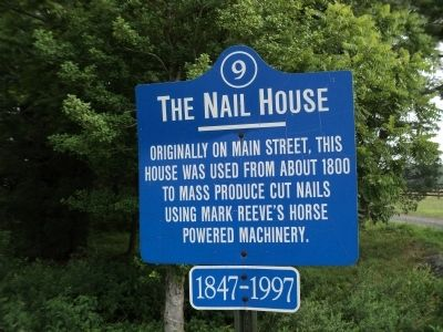 The Nail House Marker image. Click for full size.
