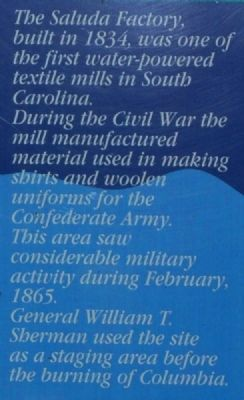 Saluda Factory Ruins Marker image. Click for full size.