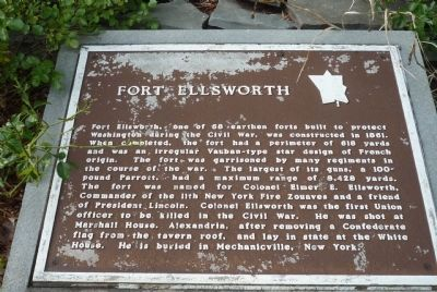 Fort Ellsworth Marker image. Click for full size.