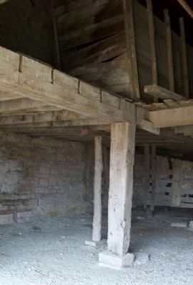 The Limestone Bank Barn Interior image. Click for full size.