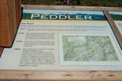 Peddler Hill Overlook Marker, Panel 1. image. Click for full size.