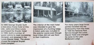 Lodging through the years image. Click for full size.