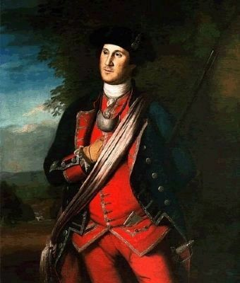 Colonel George Washington image. Click for full size.