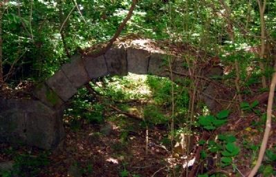 Saluda Factory Ruins<br>Only Stone Archway to Remain from the Factory image. Click for full size.