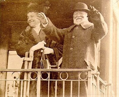 Mr. and Mrs. Andrew Carnegie say farewell to Pittsburgh image. Click for full size.