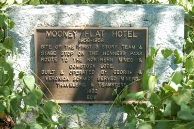 Mooney Flat Hotel Marker image. Click for full size.