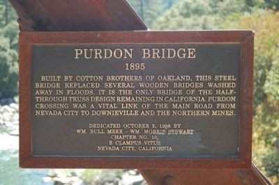 Purdon Bridge Marker image. Click for full size.