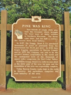 Pine Was King Marker image. Click for full size.