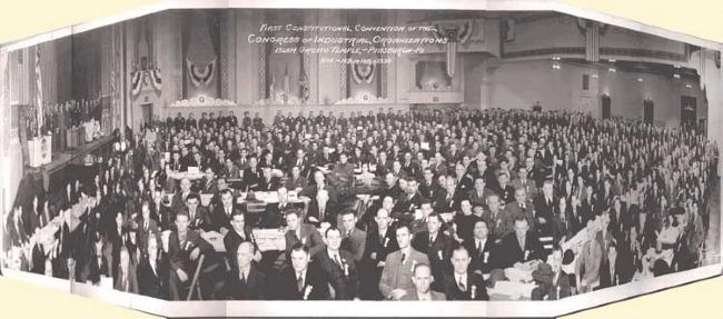 First Constitutional Convention of the Congress of Industrial Organizations image. Click for full size.