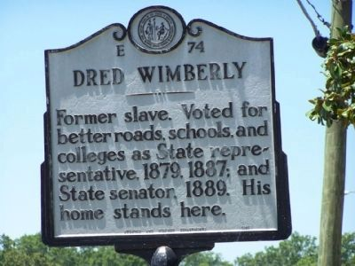 Dred Wimberly Marker image. Click for full size.