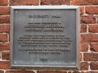 University Hall Marker image. Click for full size.