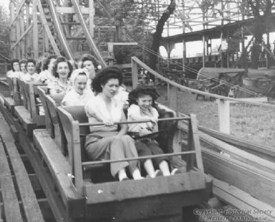 People enjoying a ride on the Jack Rabbit at Kennywood Park image. Click for full size.