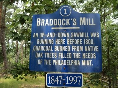 Braddock's Mill Marker image. Click for full size.