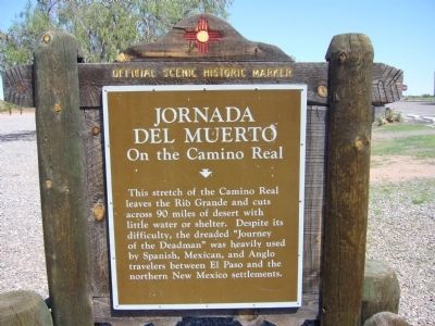 Jornada del Muerto On the Camino Real Marker image. Click for full size.