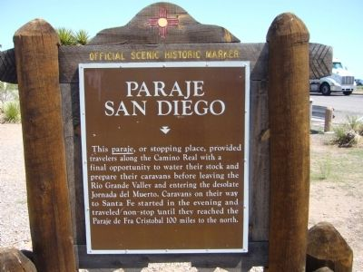 Paraje San Diego Marker image. Click for full size.