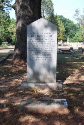 George Elmore Marker and Tombstone image. Click for full size.