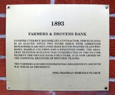 Farmers & Drovers Bank Marker image. Click for full size.