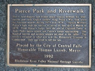 Pierce Park and Riverwalk Marker image. Click for full size.