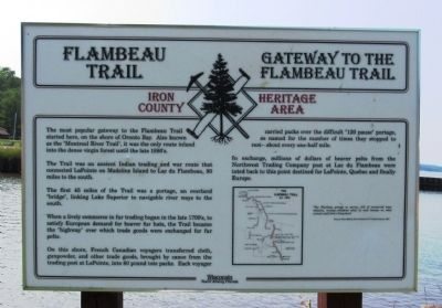 Flambeau Trail – Gateway to the Flambeau Trail Marker image. Click for full size.