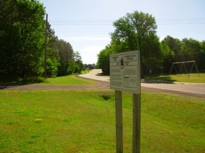 Flambeau Trail – Flambeau Trail Crossing Marker image. Click for full size.