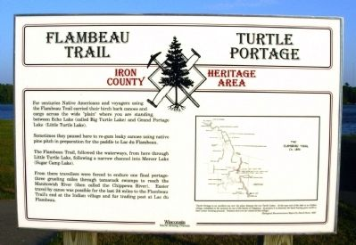 Flambeau Trail – Turtle Portage Marker image. Click for full size.