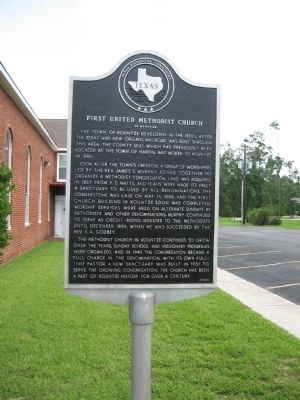 First United Methodist Church of Kountze Marker image. Click for full size.