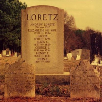 Andrew Loretz and Family Headstones image. Click for full size.