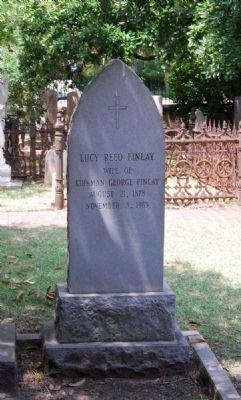 Lucy Reed Finlay Tombstone image. Click for full size.