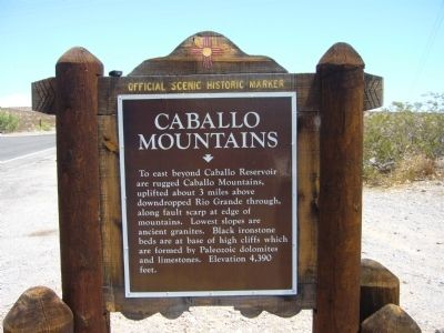Caballo Mountains Marker image. Click for full size.
