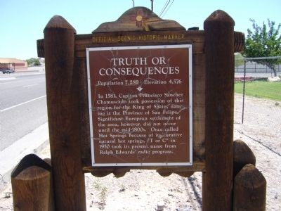 Truth or Consequences Marker image. Click for full size.