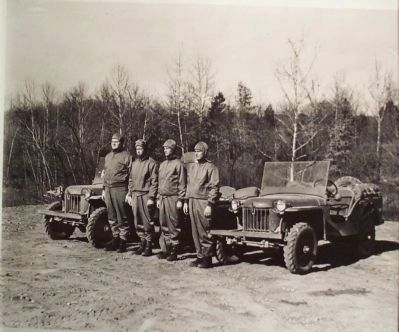 "The first ""Jeep"" vehicles manufactured by the Bantam Motor Car Company image. Click for full size."