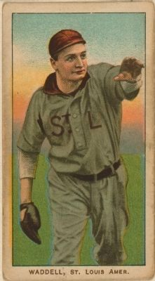 Rube Waddell image. Click for full size.