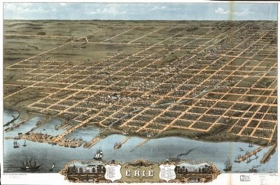Bird's eye view of the city of Erie image. Click for full size.