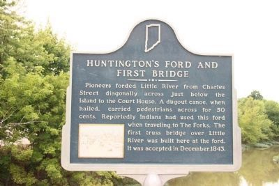 Huntington's Ford and First Bridge Marker image. Click for full size.