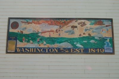 Mural of the side of the school. image. Click for full size.