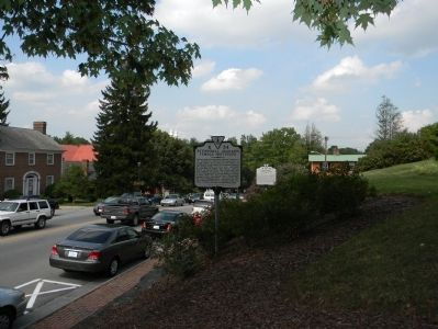 Wide view of the Stonewall Jackson Female Institute Marker image. Click for full size.