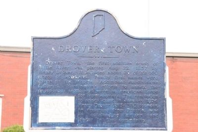 Drover Town Marker image. Click for full size.