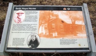 Seth Hays Home Marker image. Click for full size.