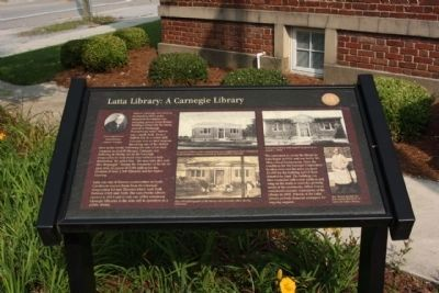 Latta Library: A Carnegie Library Marker image. Click for full size.
