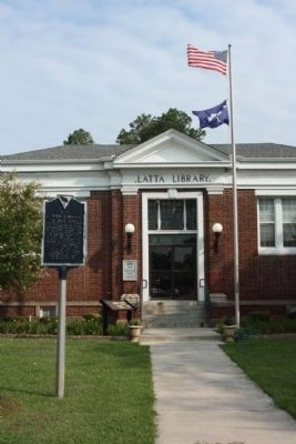 Latta Library: A Carnegie Library Marker with State Historical Marker image. Click for full size.