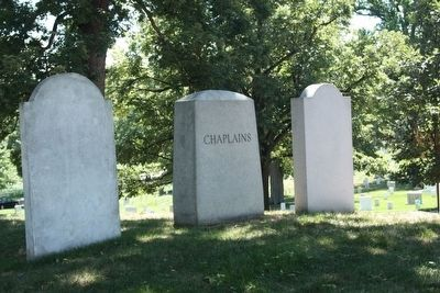 Chaplains Hill markers, reverse of three of the markers image. Click for full size.