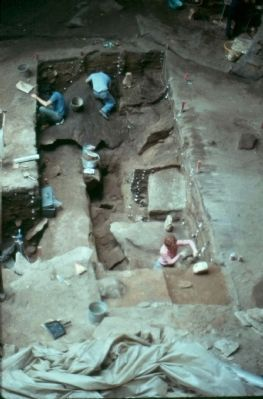 Meadowcroft Rockshelter Initial Excavation image. Click for full size.