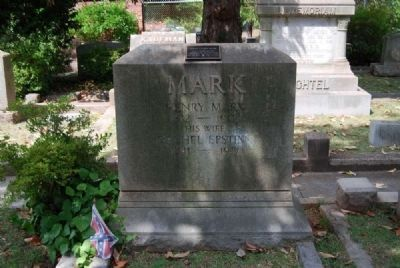 Henry and Rachel Mark Tombstone image. Click for full size.