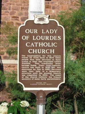 Our Lady of Lourdes Catholic Church Marker image. Click for full size.