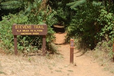 The Stevens Trail Trailhead Located at Colfax. image. Click for full size.