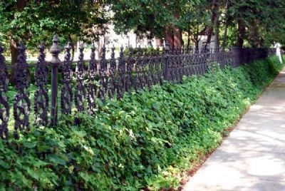 Wrought Iron Fence and Ivy image. Click for full size.