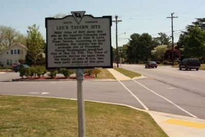 Lee's Tavern Site Marker, looking east along Columbia Avenue image. Click for full size.